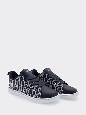 타미 힐피거 키즈 스니커즈 Tommy Hilfiger TH Kids Logo Sneaker,NAVY
