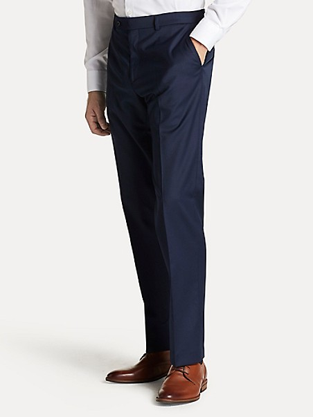 TOMMY HILFIGER Regular Fit Suit Pant In Navy Twill