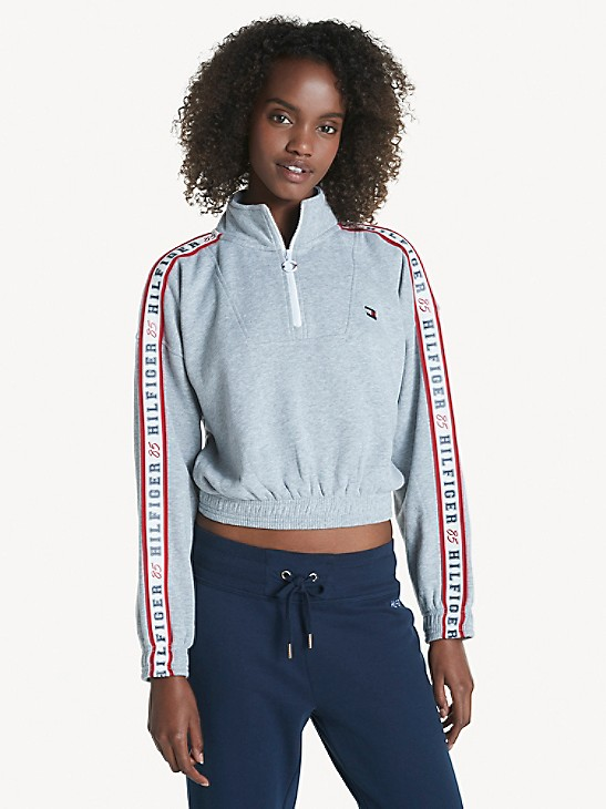 Essential Logo Tape Mockneck Sweatshirt