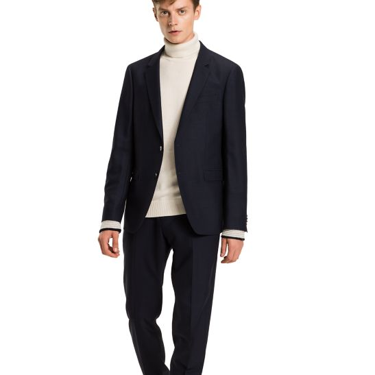 Virgin Wool Slim Fit Suit Trousers - Sales Up to -50% Tommy Hilfiger