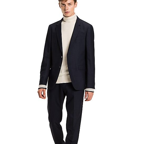 Virgin Wool Slim Fit Suit Trousers - Sales Up to -50% Tommy Hilfiger ki591