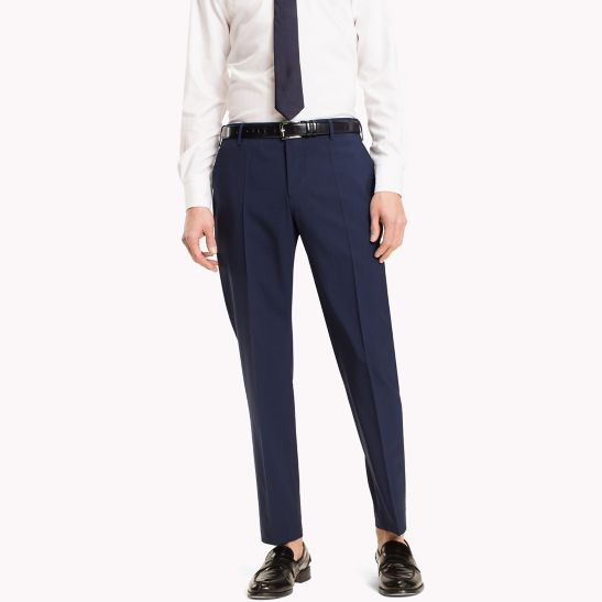Virgin Wool Fitted Trousers - Sales Up to -50% Tommy Hilfiger