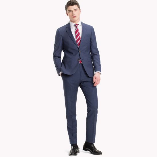 Slim Fit Virgin Wool Suit Trousers - Sales Up to -50% Tommy Hilfiger