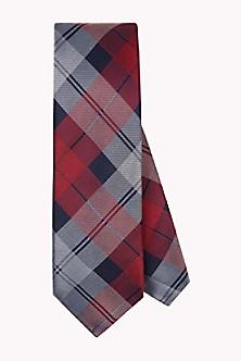 Cotton Silk Check Tie - Sales Up to -50% Tommy Hilfiger bYU7jN