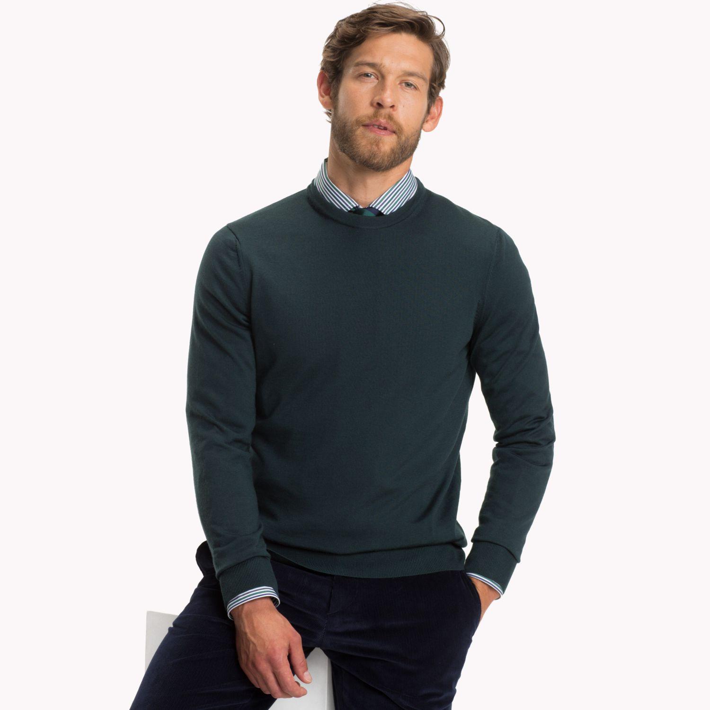 A crew neck jumper is a versatile piece
