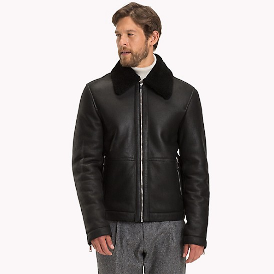 c572bea7a Leather Aviator Jacket | Tommy Hilfiger
