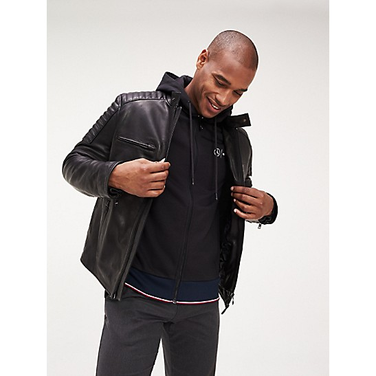 TommyXMercedes Benz Leather Racer Jacket