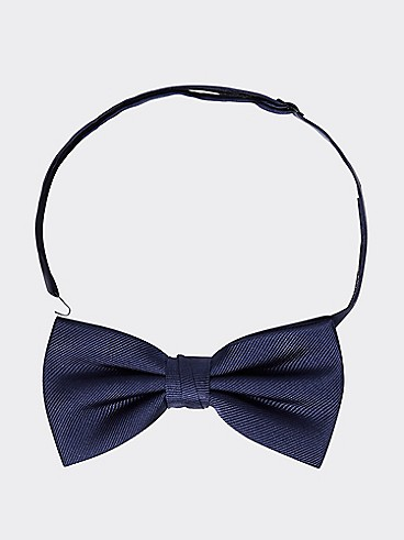 타미 힐피거 솔리드 실크 보우 넥타이 TOMMY HILFIGER TAILORED Solid Silk Bow Tie,SKY CAPTAIN