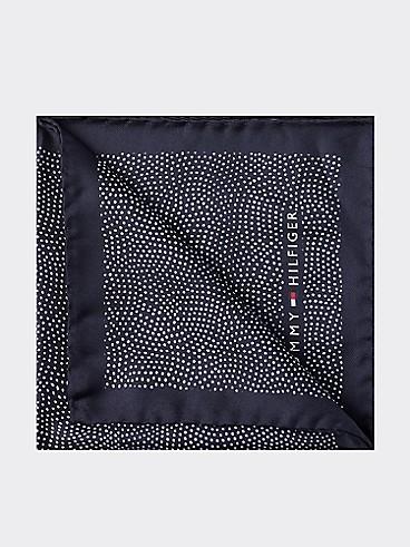 타미 힐피거 포켓 스퀘어 TOMMY HILFIGER TAILORED Dot Print Pocket Square,NAVYBLAZER/BRIGHTWHITE