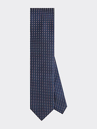 타미 힐피거 넥타이 TOMMY HILFIGER TAILORED Slim Width Dot Tie,NAVYBLAZER/HAUTERED/BRIGHTWHITE