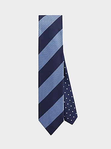 타미 힐피거 스트라이프 넥타이 TOMMY HILFIGER TAILORED Slim Width Stripe Tie,NAVY/BLUE