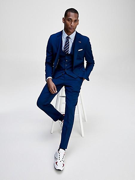 TOMMY HILFIGER TAILORED Slim Fit TH Flex Vested Suit