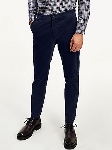타미 힐피거 테일러드 스트레치 코튼 팬츠 (슬림핏) TOMMY HILFIGER TAILORED TH Flex Stretch Cotton Slim Fit Pant,navy blazer