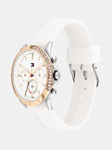 STAINLESS STEEL BRACELET WATCH WITH