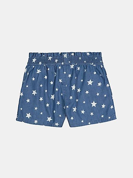 타미 힐피거 걸즈 반바지 Tommy Hilfiger TH Kids Star Short,medium blue wash