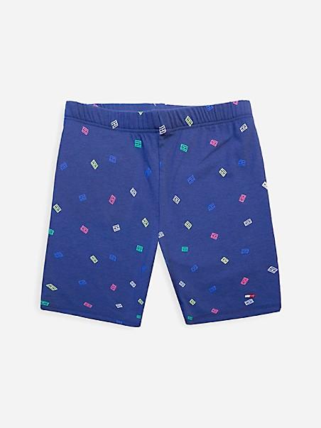 타미 힐피거 걸즈 반바지 Tommy Hilfiger TH Kids Flag Bike Short,flag blue