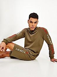타미 힐피거 맨 맨투맨 Tommy Hilfiger Tommy Lounge Sweatshirt,army green