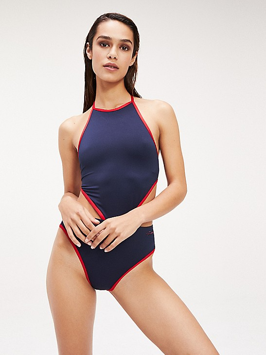 We Are Handsome Womens Halter One-Piece Swimsuit