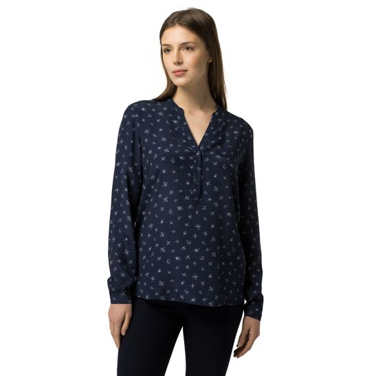 Crepe de Chine Top - Sales Up to -50% Tommy Hilfiger