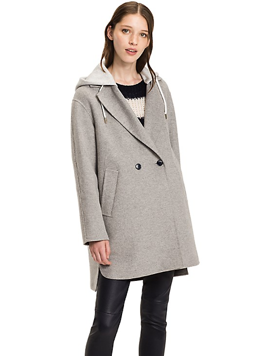 Detachable Hood Option Tommy Hilfiger, Tommy Hilfiger Peacoat With Hood