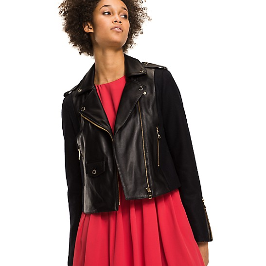 Wool And Leather Moto Jacket