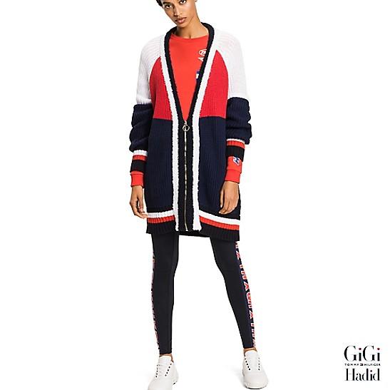 7bc292529 Gigi Hadid Color Block Cardigan | Tommy Hilfiger