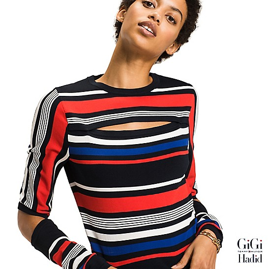 e93a1df95def FINAL SALE Gigi Hadid Striped Sweater