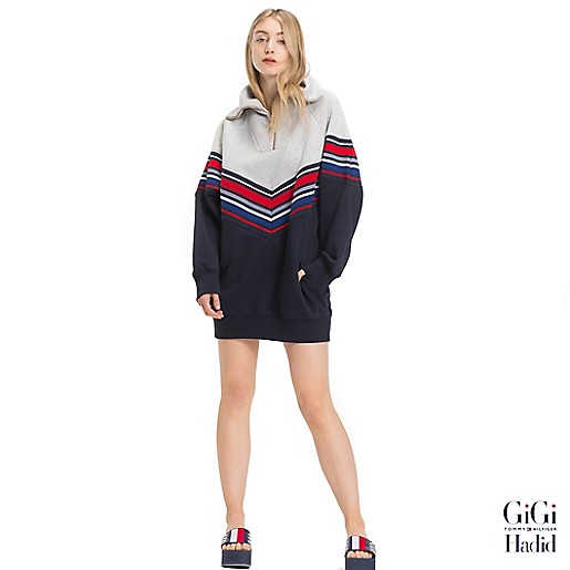 631827d4e65 Gigi Hadid Stripe Sweater Dress | Tommy Hilfiger