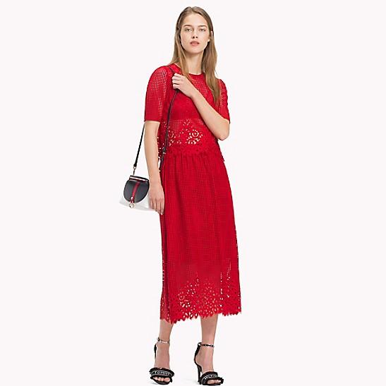 9e157a3a26 Laser Cut Lace Midi Skirt | Tommy Hilfiger