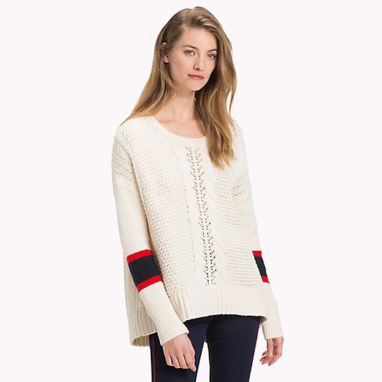 713850e5 Mixed Knit Sweater | Tommy Hilfiger