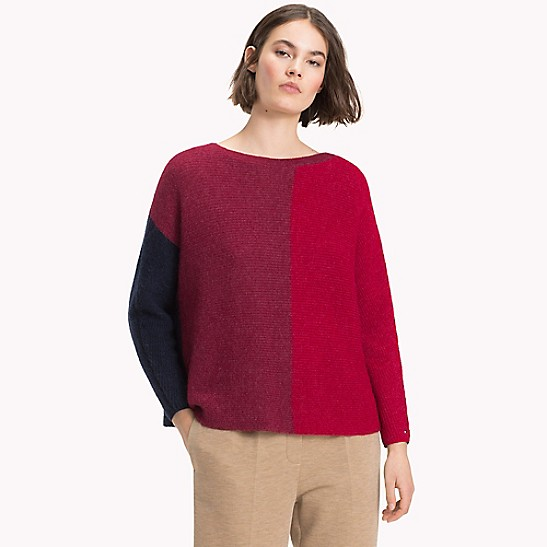42934d9601 SALE Colorblock Boatneck Sweater