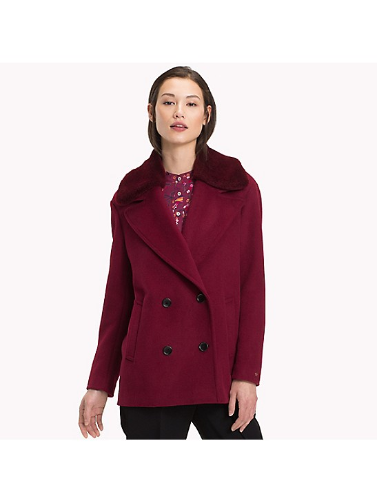 Fur Collar Peacoat Tommy Hilfiger, Tommy Hilfiger Peacoat With Hood