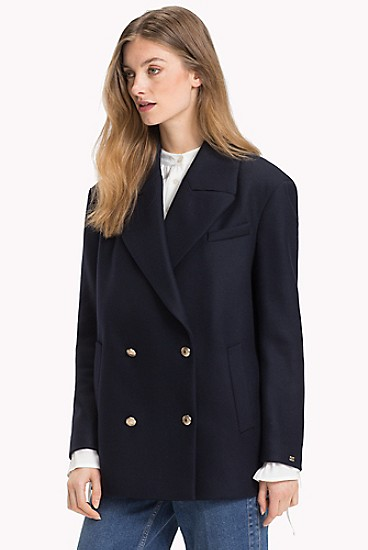 Tommy Hilfiger Double-breasted Wool Blazer (Midnight)