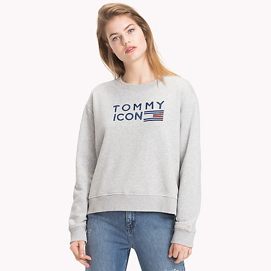 7ac528f41 SALE Tommy Icons Sweatshirt