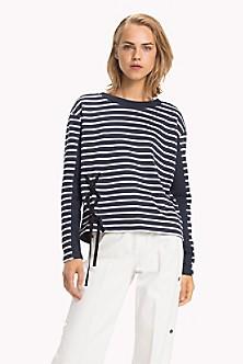 Stripe Laced Eyelet Sweatshirt. Quick View for Stripe Laced Eyelet  Sweatshirt. NEW. TOMMY HILFIGER 38b9fb46010b