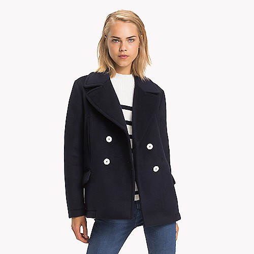 Short Peacoat Tommy Hilfiger, Tommy Hilfiger Peacoat With Hood