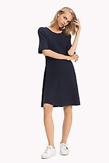 e3fd03f9b7 Ribbed Short-Sleeve Dress