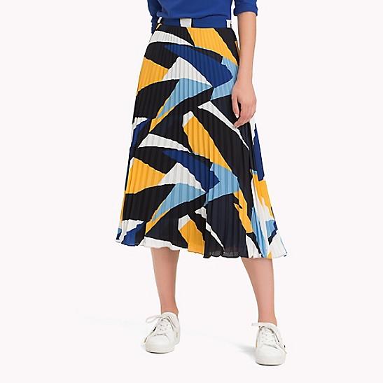 e29901b4f Pleated Graphic Print Midi Skirt | Tommy Hilfiger