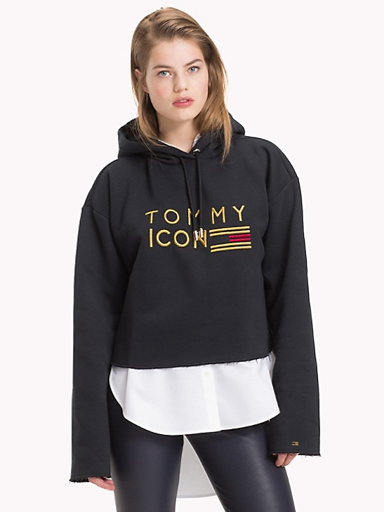 Tommy Icons Cropped hoodie