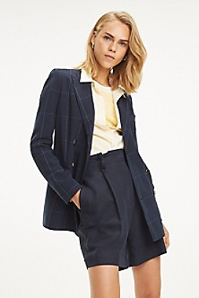 31e38374be13 Double-Breasted Windowpane Blazer