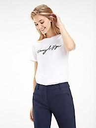 Organic Cotton Script Logo T-Shirt | Tommy Hilfiger