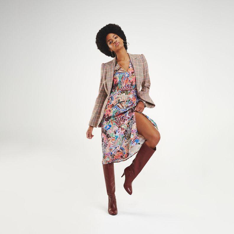 NEW Zendaya Satin Wrap Dress