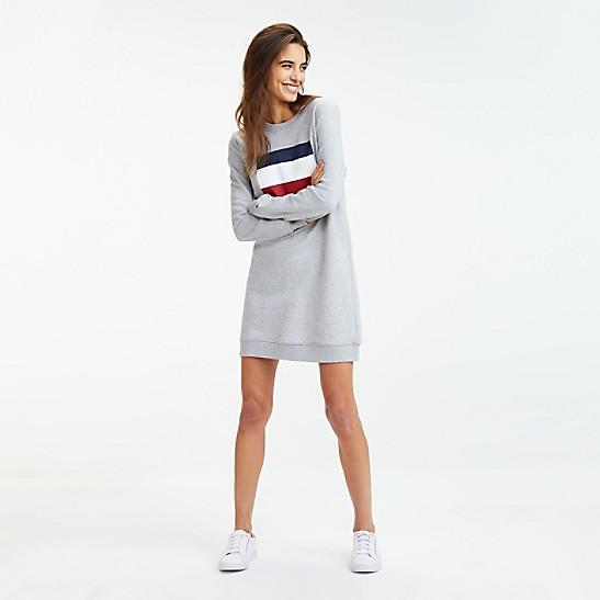 günstiger Preis neueste trends von 2019 Modestile Flag Logo Sweatshirt Dress
