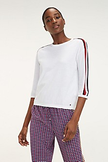 92a8391c21e1f2 Organic Cotton Racing Stripe Sweater