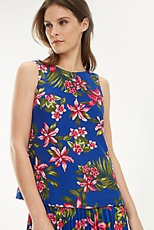 9a46380f Sleeveless Print Blouse. Quick View for Sleeveless Print Blouse. TOMMY  HILFIGER