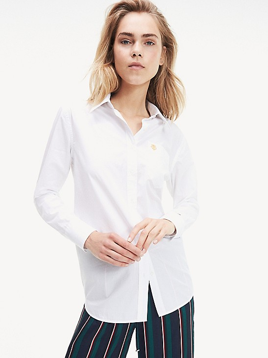 Tommy Hilfiger Shirts Ribbed Chest Oxford