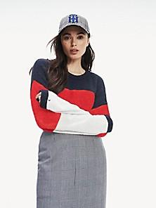 New Womens Tommy Hilfiger Full Zip Chevron Striped Jacket Retail $89.50