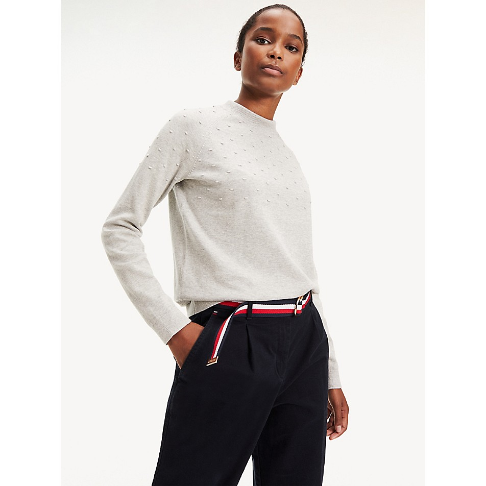 NEW Organic Cotton Mockneck Sweater
