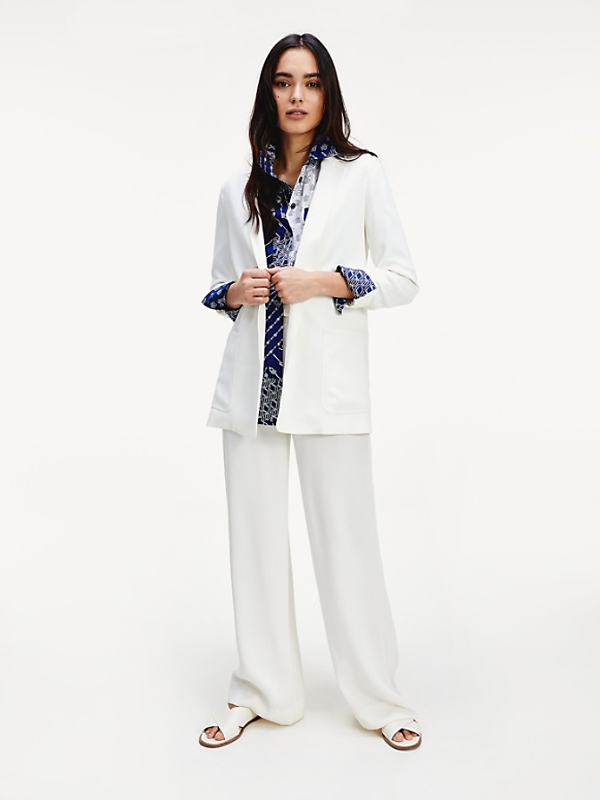 NEW TO SALE Relaxed Fit Sateen Belted Blazer