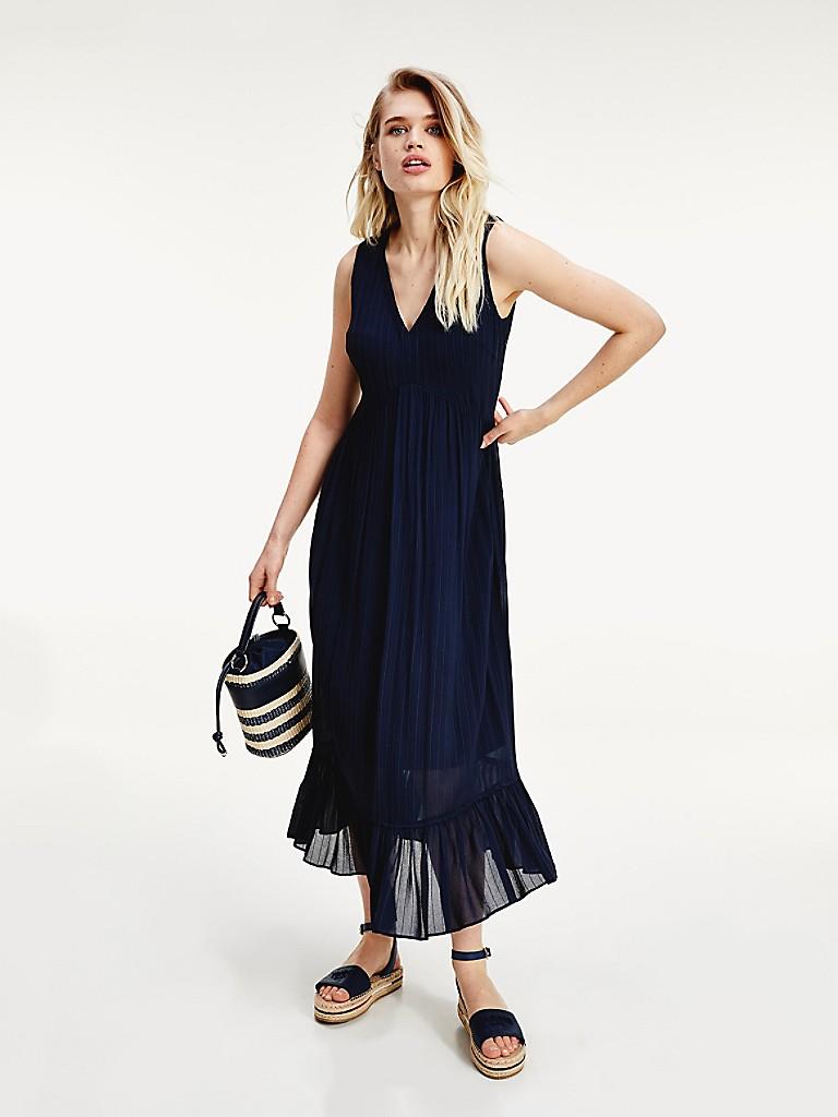 NEW Pinstripe Sleeveless Dress